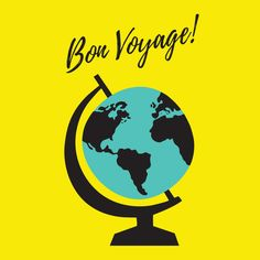 Bon Voyage Greetings Card by Oh Hello! Studio #greetingcards #illustration #print #stationery #travel #wanderlust #bonvoyage #globetrotter