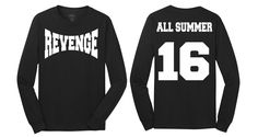 62ea07be7ada Revenge All Summer Sixteen Long Sleeve Drake Tour Summer 16 T shirt tee  long sleeve