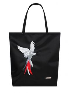 Shopper bag Parrot (black)