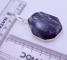 free shipping  Ms-5 Stunning Black Jasper .925 Silver Handmade Pendant Jewelry by SILVERHUT on Etsy