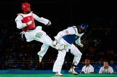 Congrats! R.Isaev #AZE #gold A.Alfaga #NIG #silver M.Siqueira #BRA #bronze D.Cha #KOR #bronze #Taekwondo Men's +80kg