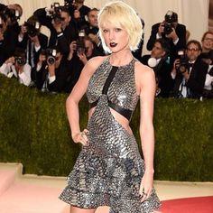 Edgy + bold, Taylor Swift rocks the red carpet in a metallic mini  We're sharing style updates on Twitter #MetGala #MetGala2016