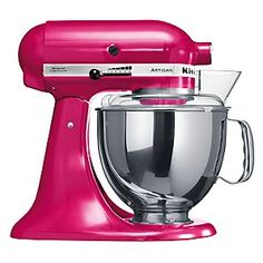 Though I do not have a metallic pink one, I do love my cobalt blue Kitchen-Aid mixer! Especially since it was a gift from my parents. kp