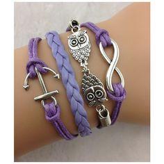 braided bracelets,purple rope bracelets,women bracelets,friendship... ($4.29) ❤ liked on Polyvore