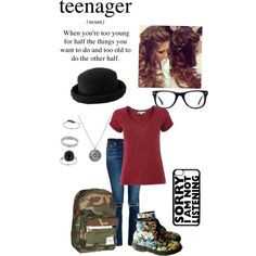 Teenager by annaghart on Polyvore featuring polyvore fashion style White Stuff AG Adriano Goldschmied Dr. Martens Herschel Miss Selfridge Warehouse Muse
