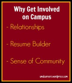 Build your resume by getting involved on campus