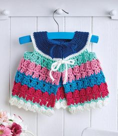 """Vintage smock ~ FREE - CROCHET go to site & download direct from pic - click on """"free crochet pattern download now"""" right under the picture"""