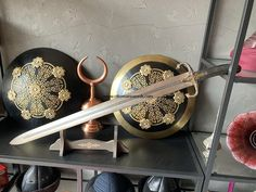 Sword Of Abu Bakr Al Siddiq   Replica   Ottoman Swords Turkish Bow, Replica Swords, Cane Sword, Damascus Sword, Camp Axe, Wood Arrow, Archery Equipment, Katana Swords, Bushcraft Knives