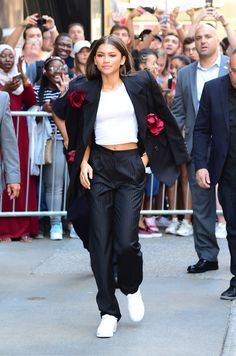 Selena Gomez, Miranda Kerry, Zendaya and More Crop Top-Obsessed Celebrities Photos | W Magazine