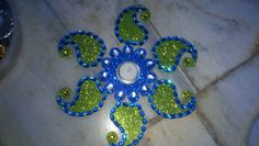 Rangoli for diwali can be used as rangoli diya or as a welcome door decoration with tea light candle