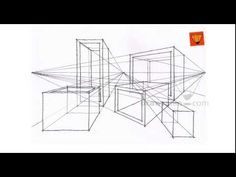 Perspective Drawing: Intermediate 50 inter multipoint objects 05 - YouTube