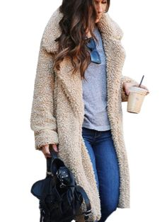 """Be snuggly warm in our """"Teddy Bear"""" Knee Coat. Perfect for a cold winter day or just because you want to look cool! Mode Outfits, Fashion Outfits, Womens Fashion, Fashion Trends, Ladies Fashion, Fashion Coat, Fashion Ideas, Ladies Outfits, Easy Outfits"""