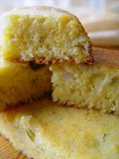 Extra  Moist Jalapeno Cornbread. Had this at The Pearl with local honey and butter. SOOOO good (and I don't like jalapeno)!