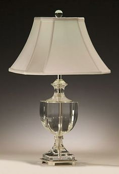 solid crystal lamp