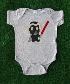 Sewing Wars - Baby Dark Vader Infant Bodysuit. $23.00, via Etsy.