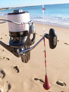 Equipo pesca surfcasting para herreras
