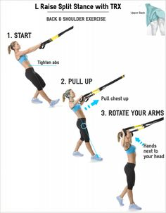 L Raise Split Stance with TRX