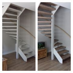 Upstairs Staircase Renovations is a renowned partner for every staircase renovation. Our years of experience and craftsmanship make us the specialist in staircase renovation. Open Trap, White Stairs, Open Staircase, House Entrance, Park Homes, Fixer Upper, New Homes, Bedroom Decor, Home And Garden