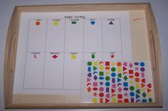 Sorting Stickers {shapes shown but could be any stickers} #tottrays