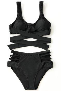 Cupshe Miss Me High-waisted Bikini Set