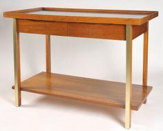 Vintage Mid Century Walnut Bar Server Buffet by by Goodpix11, $345.00
