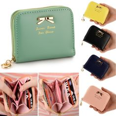 5 Colors available: Black, Blue, Green, Yellow, Pink Material: Synthetic Leather Bag Size: 11.5 x 8.5 x 2.5cm/4.49 x 3.3 x 0.98