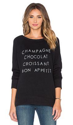 DAYDREAMER Bon Apetit Sweatshirt in Black