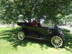 Having fun at the Stowe Away to Vermont Steam Car Tour with an M.S. Herman and Company car.