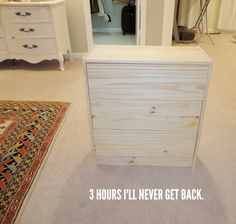 DIY Ikea Rast Makeover with Weathered Gray Wood Stain