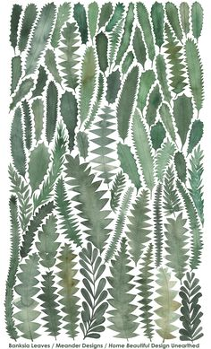 Banksia Leaves Tea Towel Home Beautiful Magazine on Behance