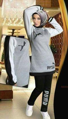 Muslim Fashion, Hijab Fashion, Fashion Outfits, Sports Hijab, Moslem, Sweatpants Outfit, Mode Hijab, Hijab Outfit, Sport Wear