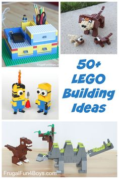 50+ Lego Building Ideas for Kids - A huge collection of Lego building instructions, Lego games, Lego machines to make, and more!