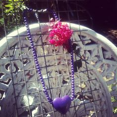 VINTAGE 1980s PURPLE HEART pendant necklace by thelostproperty, $12.50