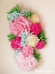 Tissue Paper Flowers - The Tutorial at ModVintageLife.com