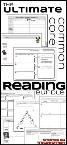 The Ultimate Common Core Reading Bundle  http://www.teacherspayteachers.com/Product/Common-Core-Reading-Lit-Non-Fiction-Graphic-Organizers-Grades-6-12-779833