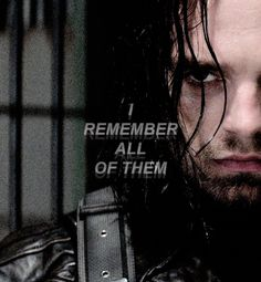 The moment when Bucky had enough clarity in his mind to remember all the things he had done and was sad