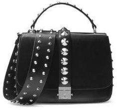 764002bb0674b Michael Kors Collection Mia Leather Shoulder Bag