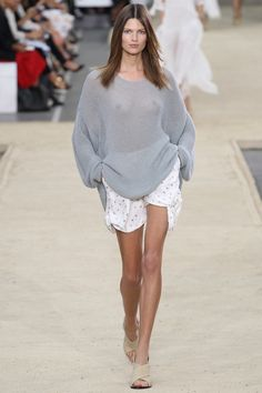 #Chloé #Spring2014 #Catwalk #trends #ParisFafhionWeek #Paris #SS2014 #shorts #sweater