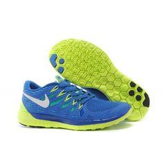 Lightweight Nike Free 5.0 Men's Running Shoe Blue Light Green