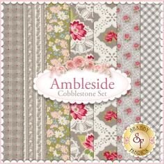 "Ambleside 7 FQ Set - Cobblestone by Brenda Riddle for Moda Fabrics: Ambleside is a collection by Brenda Riddle for Moda Fabrics. 100% Cotton. This set contains 7 fat quarters, each measuring approximately 18""x21"""