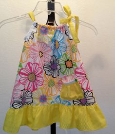 SPRING  FLOWERS Pillow Case Dress by craftychica56 on Etsy, $18.00 Flower Pillow, Spring Flowers, Pillow Cases, Summer Dresses, Pillows, Trending Outfits, Handmade Gifts, Etsy, Fashion