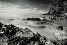 black white landscape how to