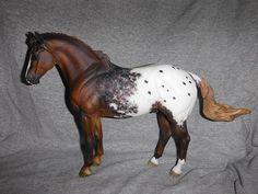 Appaloosa model horse Sculptor Tumlinson & Hurley Ravenhill Painter Cara Barker Yellott