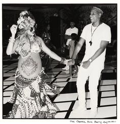 3c990497da1 Very pregnant Beyoncé dances with husband Jay Z at her baby shower Beyonce  Show