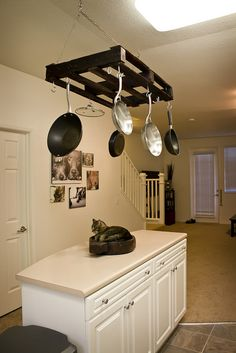 Just the pot rack. I love the color and everything. Will match perfectly!