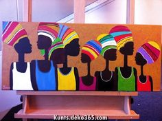 African Art For Kids, African Art Projects, African Crafts, Wal Art, Afrique Art, African Art Paintings, Caribbean Art, Afro Art, Thinking Day