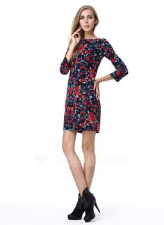[US$ 20.99] Polyester With Print Above Knee Dress (199087178)