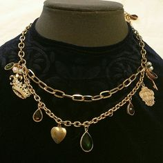 🌺🌺 Sale Today🌺🌺Necklace & Bracelet set NWT Gorgeous set with lovely charms  Size adjustable Cookie Lee Jewelry Bracelets