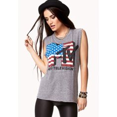 MTV American Flag Muscle Tee Gray muscle tee with american flag pattern and MTV logo.  -purchased at forever 21. -only worn once, so it's in excellent condition. NO FLAWS whatsoever! -size is a small but can easily fit a medium.  hello poshers, welcome to my closet ✨ go ahead and take a look around.  ✔️ no SWAPS unless it's labeled, so please don't ask.  ✔️ make offers, I'd love to negotiate.  ✔️ message me if any questions, concerns, measurements etc. I'd be happy to answer :-)  happy…