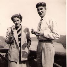 My father Axel von Schulmann and my grandmother Maria von Fersen at the Malahat lookout in 1950 Old Family Photos, Old Photos, My Grandmother, My Father, My Family, Old Things, Collection, Old Pictures, Vintage Photos